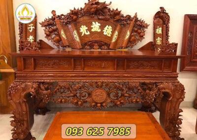 Những mẫu sập thờ gỗ hương đẹp
