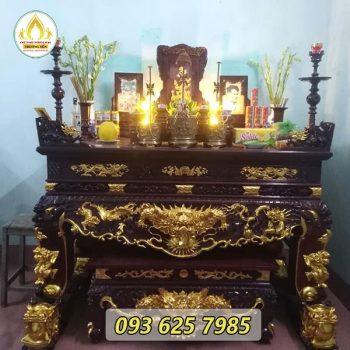 Sập thờ gỗ mít sơn son thếp vàng