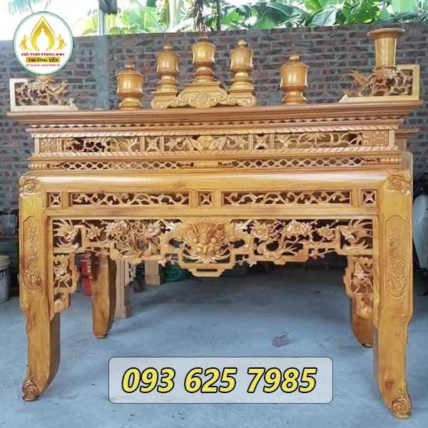 5 loại gỗ thường dùng làm bàn thờ