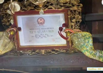 Bàn giao và lắp đặt hoành phi câu đối cho đền Bảo Hà, Lào Cai