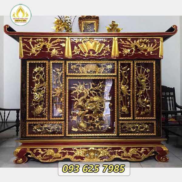 Đồ thờ sơn son thếp vàng mỹ lệ, tôn nghiêm